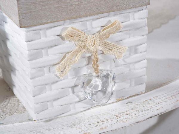 Cutii din lemn pentru ceai, cu inimioară decorativă 1