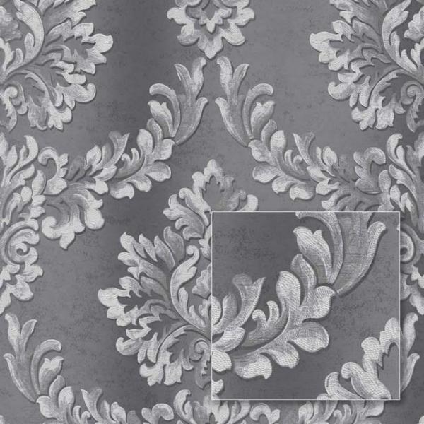Tapet modern gri în stil barok 0