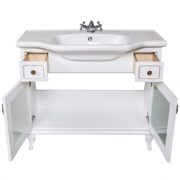 Moblier de baie BEATRICE de 100 cm alb lux 3