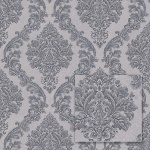 Tapet modern în stil barok gri 0