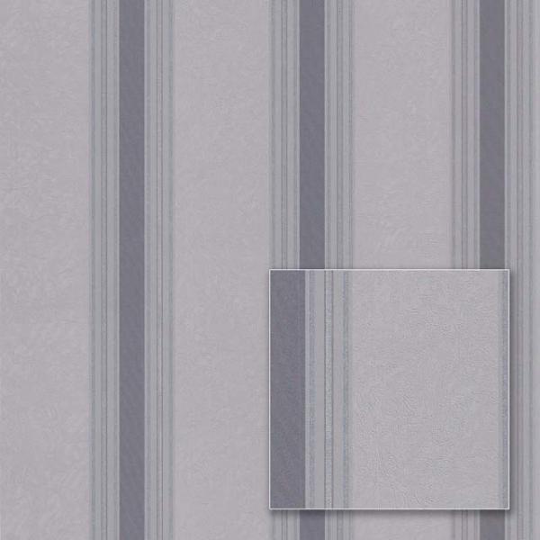 Tapet modern gri cu dungi verticale 0