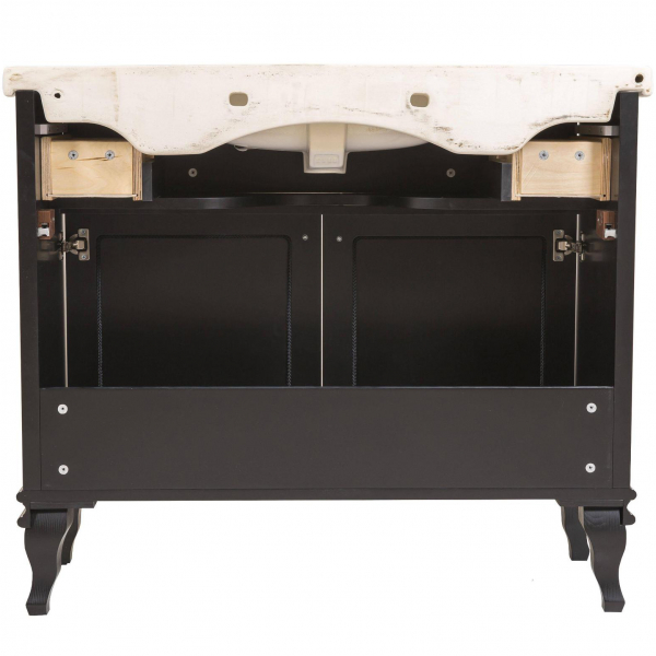 Mobilier de baie BEATRICE de 100 cm negru+crom 4