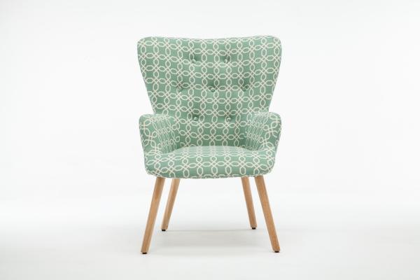 Fotoliu Model Geometric Textil + Lemn Verde 0