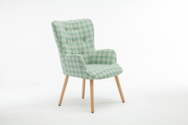 Fotoliu Model Geometric Textil + Lemn Verde 2