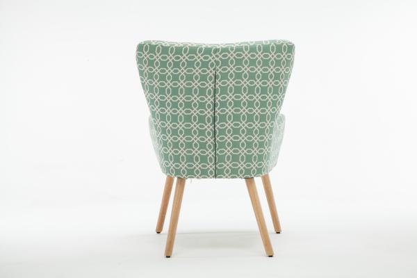 Fotoliu Model Geometric Textil + Lemn Verde 4