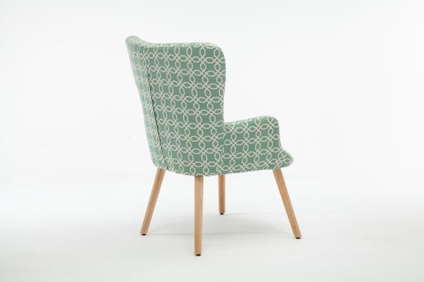Fotoliu Model Geometric Textil + Lemn Verde 3