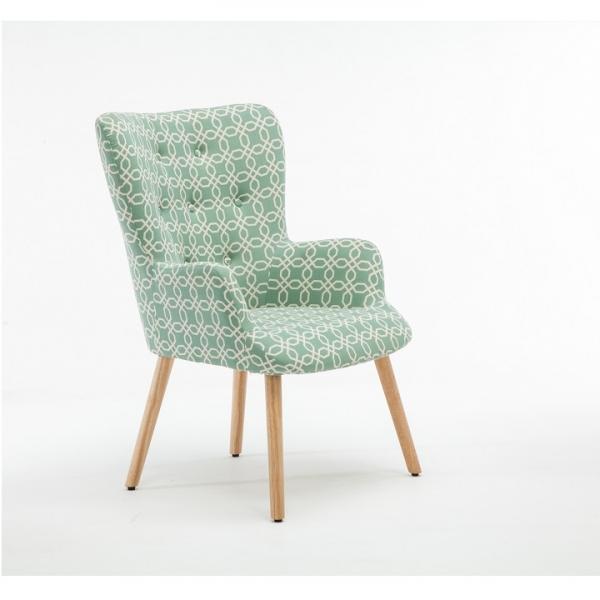 Fotoliu Model Geometric Textil + Lemn Verde 6