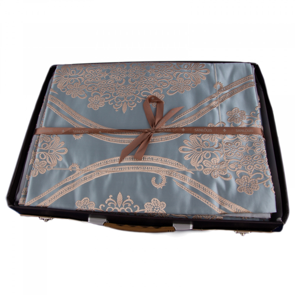 Lenjerie de pat mătase model barok 1
