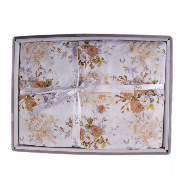 Lenjerie de pat policoton floral crem - 200X220 CM 1