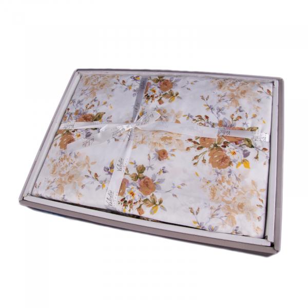 Lenjerie de pat policoton floral crem - 200X220 CM 2