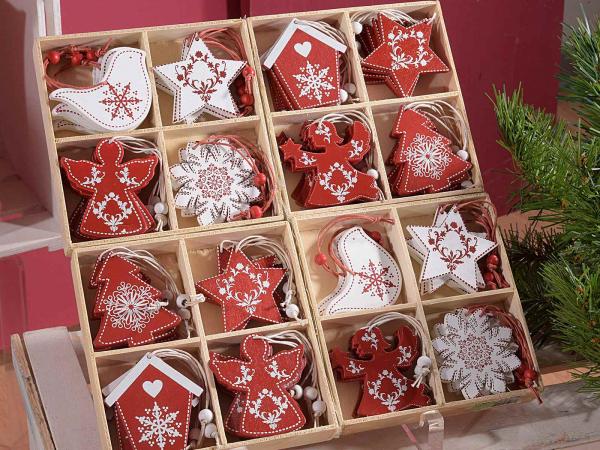 Cutie cu 64 de globuri roșii și albe 0