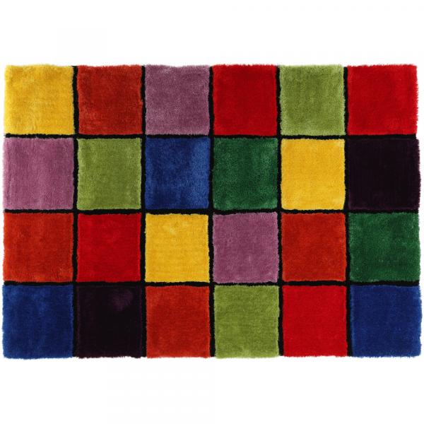 Covor multicolor, roşu/verde/galben/violet 1