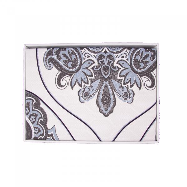 Lenjerie de pat policoton barok crem cu indigo - 200x230 cm 2