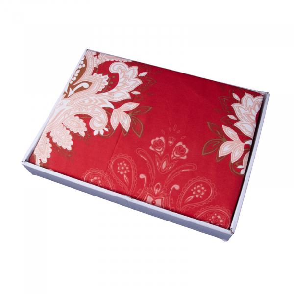 Lenjerie de pat policoton barok rosu - 200x230 cm 1