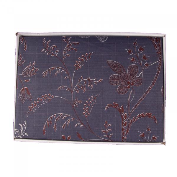 Lenjerie de pat policoton floral bluemarin - 200x230 cm 2