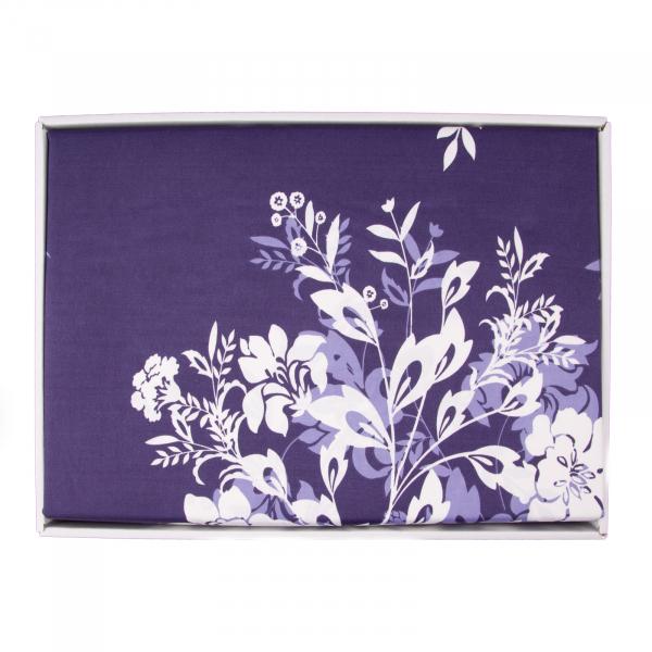 Lenjerie de pat policoton floral bluemarin - 200x230 cm 1