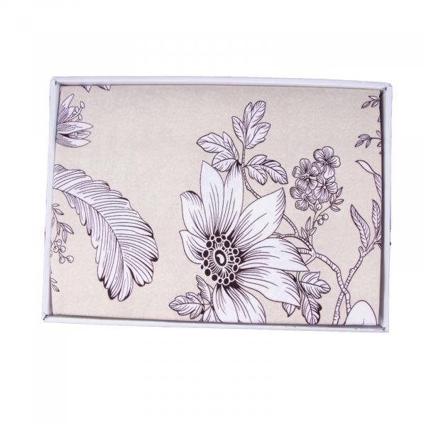 Lenjerie de pat policoton floral crem - 200x230 cm 2