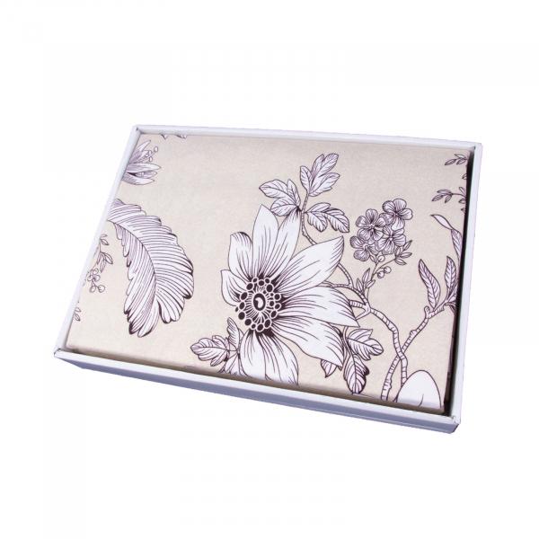 Lenjerie de pat policoton floral crem - 200x230 cm 1