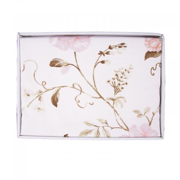 Lenjerie de pat policoton floral crem - 200x230 cm [2]