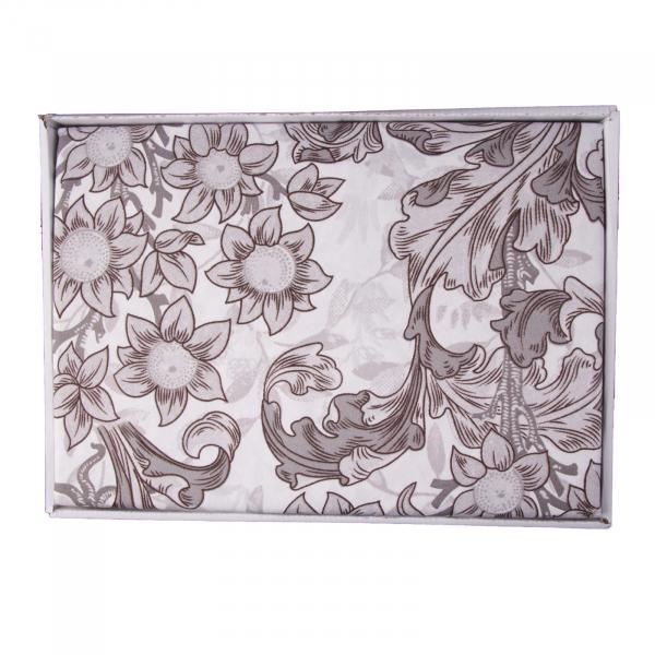 Lenjerie de pat policoton floral gri - 200x230 cm 2