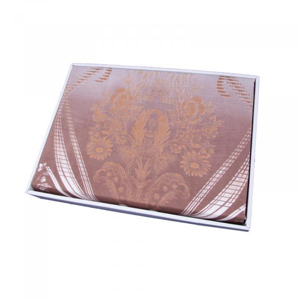 Lenjerie de pat policoton floral maro - 200x230 cm 1