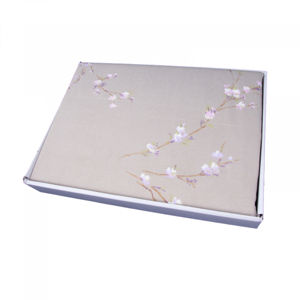 Lenjerie de pat policoton floral verde - 200x230 cm 2