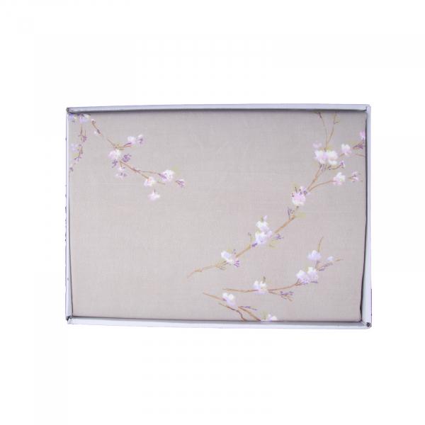 Lenjerie de pat policoton floral verde - 200x230 cm 1