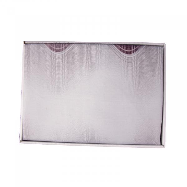 Lenjerie de pat policoton geometric mov cu gri - 200x230 cm 2