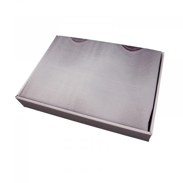 Lenjerie de pat policoton geometric mov cu gri - 200x230 cm 1