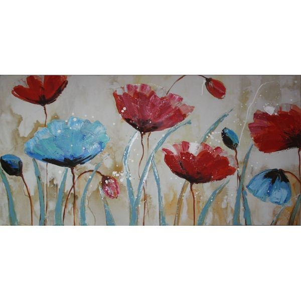 TABLOU  PICTAT MANUAL BLUE POPPY 60X120 CM 0