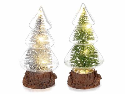 Brazi de Crăciun din sticlă cu lumină LED0