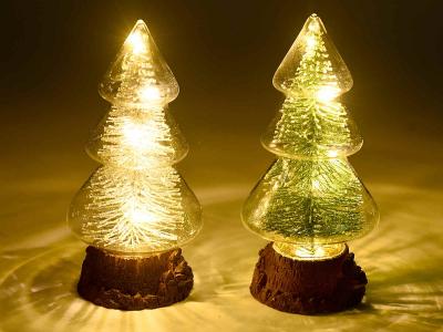 Brazi de Crăciun din sticlă cu lumină LED1