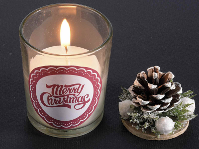 Decorațiune de Crăciun lumânare, în borcan de sticlă [0]