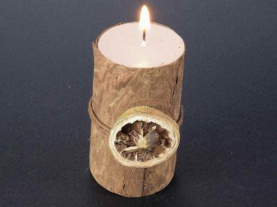 Lumânări cu efect de scoarță de copac2