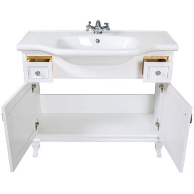 Mobilier de baie BEATRICE de 100 cm alb+crom3