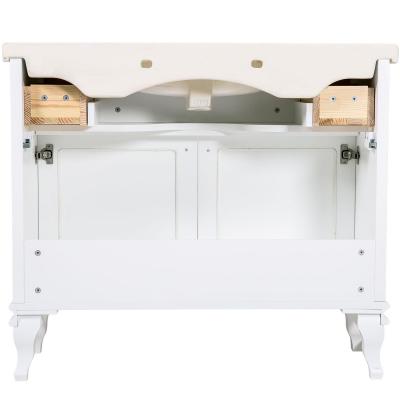 Mobilier de baie BEATRICE de 100 cm alb+crom5