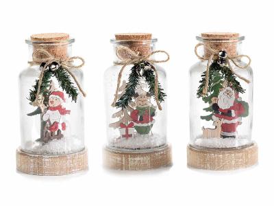 Decorațiune de Crăciun tip borcan cu lumini LED1