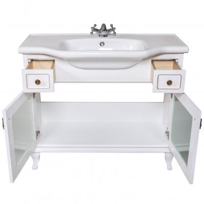 Moblier de baie BEATRICE de 100 cm alb lux3