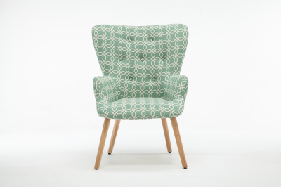Fotoliu Model Geometric Textil + Lemn Verde0