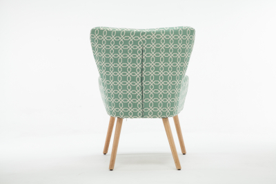 Fotoliu Model Geometric Textil + Lemn Verde4