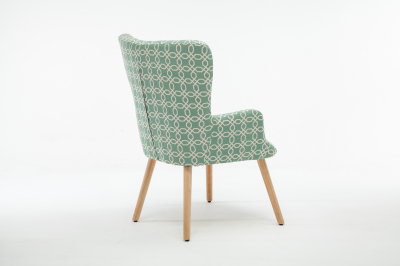 Fotoliu Model Geometric Textil + Lemn Verde3