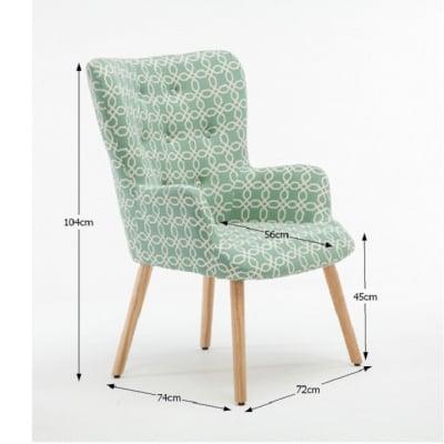 Fotoliu Model Geometric Textil + Lemn Verde1