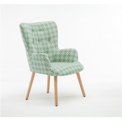 Fotoliu Model Geometric Textil + Lemn Verde6