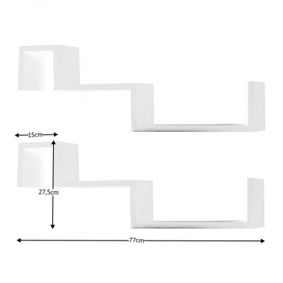 Set 2 Rafturi Din Material Mdf1