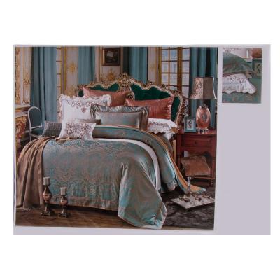Lenjerie de pat mătase verde 245x245 cm0
