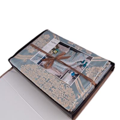 Lenjerie de pat mătase model barok3