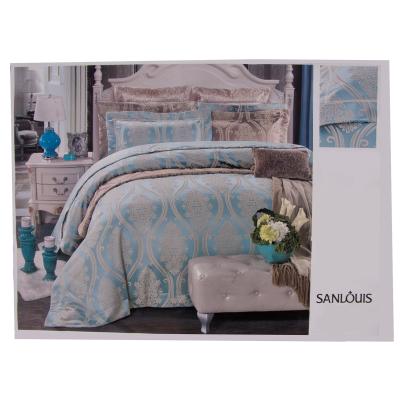 Lenjerie de pat mătase model barok0