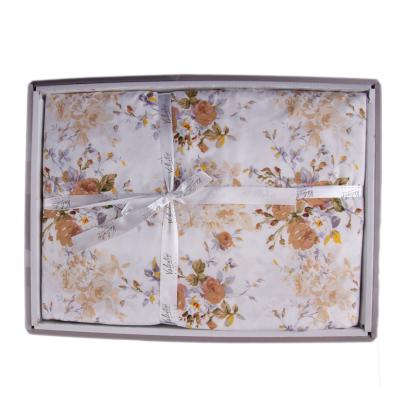 Lenjerie de pat policoton floral crem - 200X220 CM1