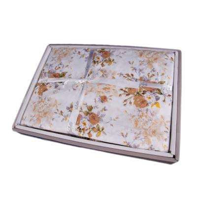 Lenjerie de pat policoton floral crem - 200X220 CM2