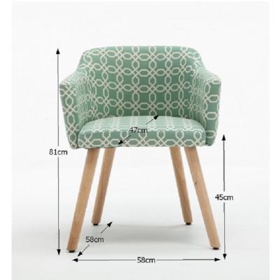 Fotoliu Model Geometric Material Lemn + Textil [5]